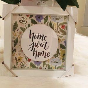 NWT Opalhouse Home Sweet Home Framed Art